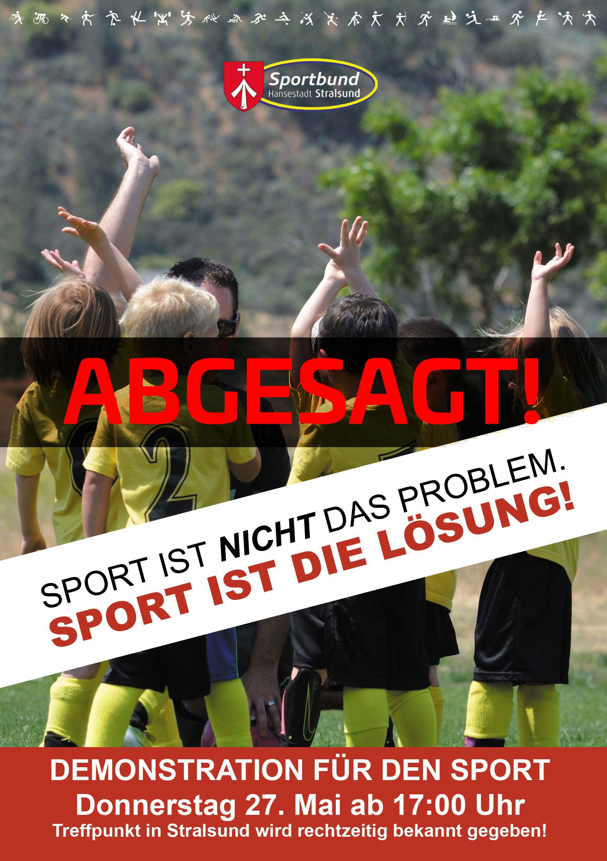 Demo für den Sport am 27. Mai (ABGESAGT)